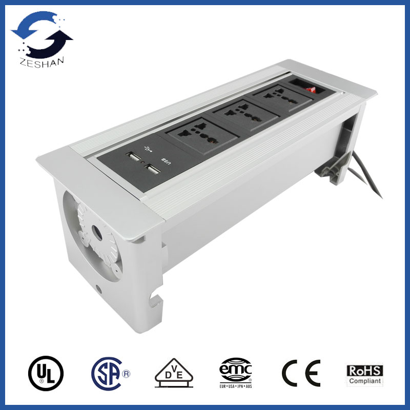 ZSPM-4.5 with Universal power and USB Charger manual desk socket