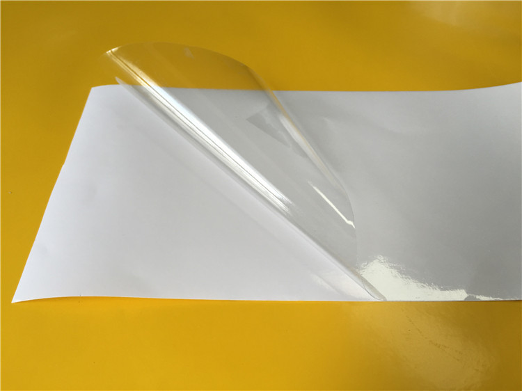transaprent PVC adhesive backed rubber sheet raw material