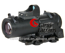 hot sell 4x fixed combat tactical scope with mini red dot CL1-0160
