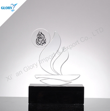 Customized Crystal trophy statue for corporate gifts Award