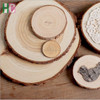 Unfinished Predrilled Natural Wood Slices with Tree Bark