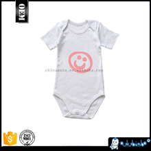 New design White Baby Romper With Custom Logo Pattern Printing with high quality