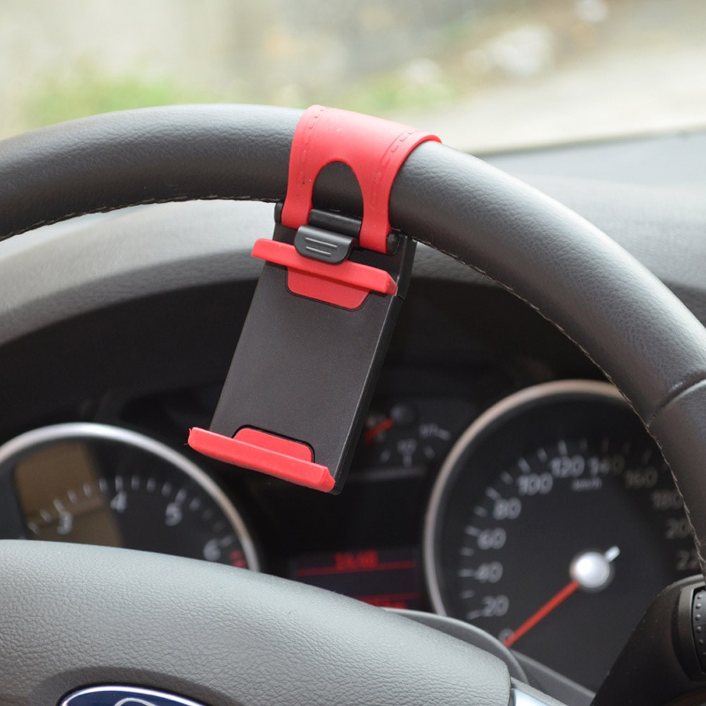 hot products Universal Car Steering Wheel Phone mount Holder for IP Flexible clip Rubber Holder