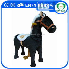HI rubber toy horse mechanical riding horse