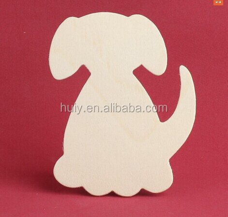 Children toy unfinished wood dog cutout