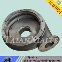 Custom diesel water pump spare parts steel casting parts