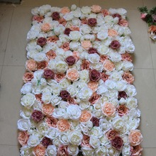 Fashion wedding hydrangea rose artificial flowers wall decoration for party stage backdrop decorative flores wholesale