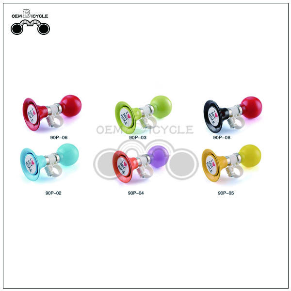 Colorful i love my bike design bicycle air horn for sale