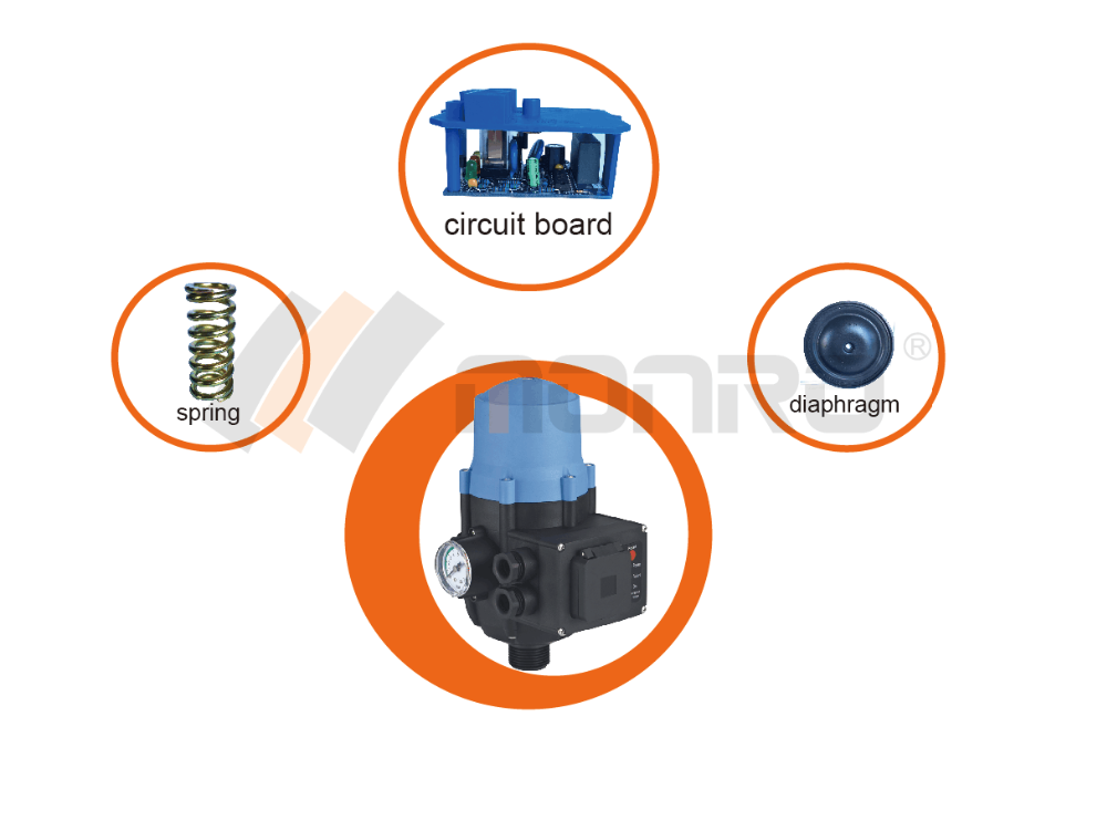zhejiang donghai pressure switch with stock box water pump electronic automatic pressure pump controller epc-2.1