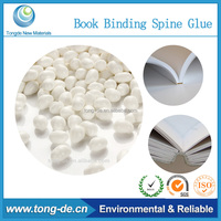 White bookbinding hot melt glue granule for uncoated paper