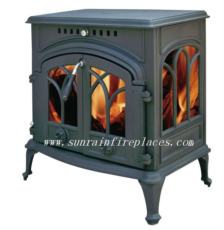 Estufas de le a de hierro fundido decorativo estufas - Estufas de lena de hierro ...