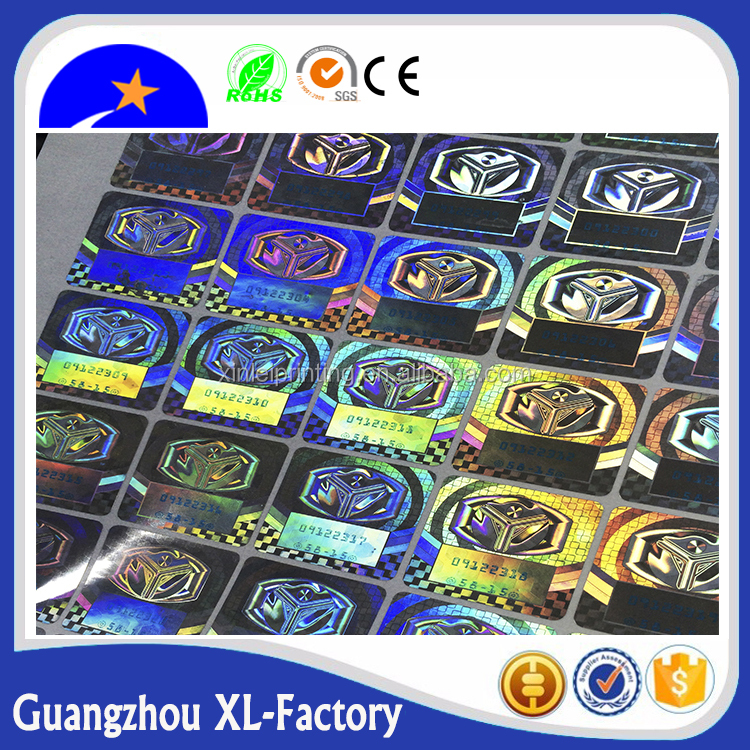 3D hologram security sticker in rolls or in sheets,Nice holographic foil sheets 3d print hologram on paper sheet