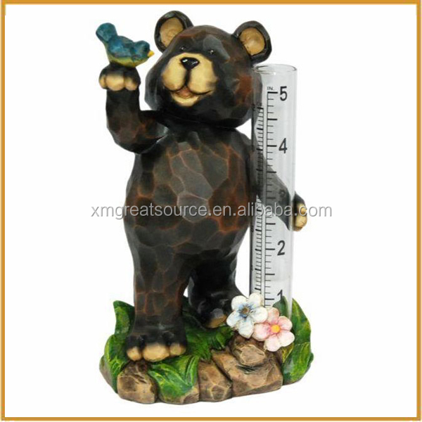 outdoor resin bear statue for garden decoration