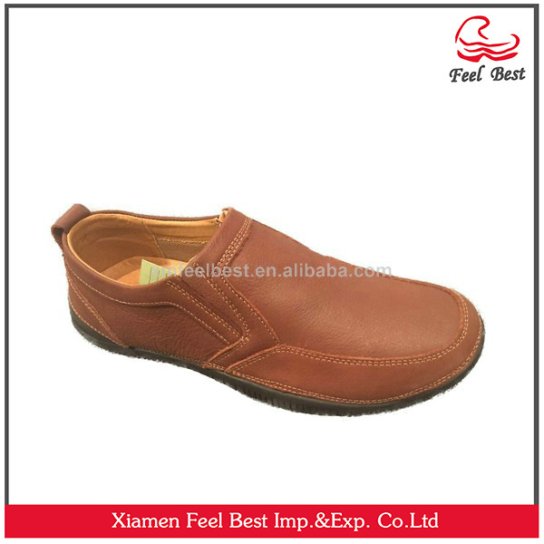 2017 Fashion Brown Pu Leather Men Shoes, Leather Shoes For Men