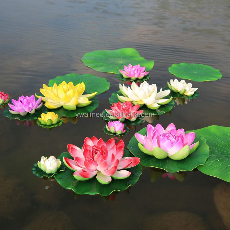Yiwu Aimee factory direct sell artificial floating plastic lotus flower(AM-LY16)