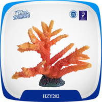 Colourful artificial coral flowers for aquarium tanks
