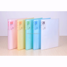 fashionable clear display book pp plastic file holder A4 clear document display book