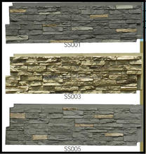 decorative waterproof / anti crack /safty polyurethane PU foam faux wall stone slate panels /stacked stone decor board