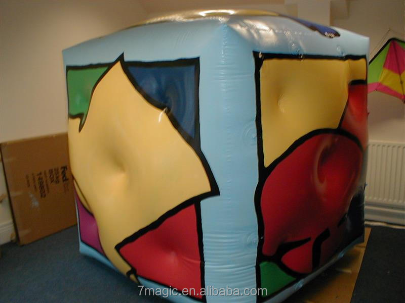 giant helium balloon/inflatable helium cube with logo printing