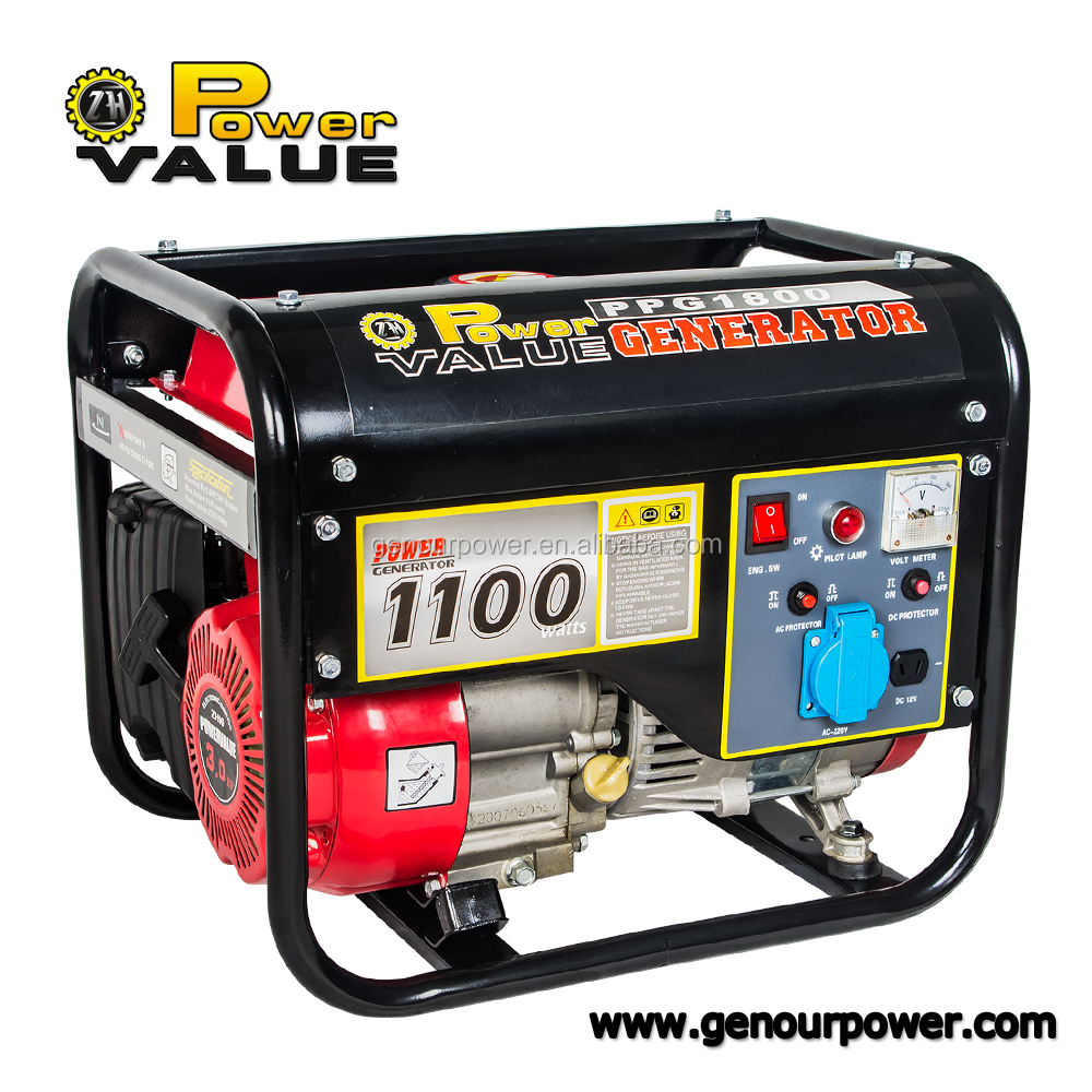 Power Value gasoline electric generator 1000w with 156f engine for sale