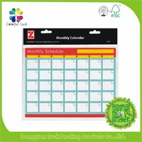 Monthly Daily Weekly Planner Organizer Real Estate Solf Fridge Magnet Calendar