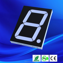 Black / white surface 1 digit red big 4 inch customized 7 segment display