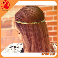 New arrival alloy layers chain headband ottoman hair accessories