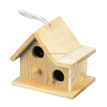 2015 wholesale garden small wood crafts bird house, factory supply wooden crafts small bird house
