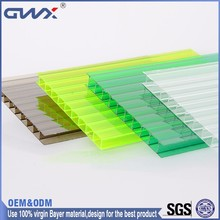 China PC manufacturer greenhouse agriculture polycarbonate hollow sheet