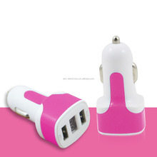 Cheap Price Wholesale Colorful Dual Port USB 12V-24V Car Charger Adapter 5V 2.1A For Cell Phone