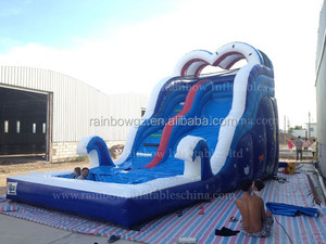 2017 Hot-selling Ocean Type Giant Inflatable Water Slide with Pool