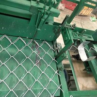 Semi automatic chain link fence weaving making machine with low price