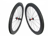 Top quality Carbon clincher wheelset 700c 60mm x 23mm U shape bicycle carbon wheels with DT 240S hub, 36 ratchets