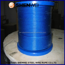 coated steel cable, yellow wire rope, clutch wire steel pvc rope