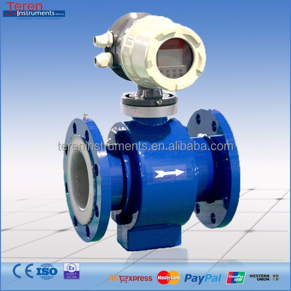 China supplier RS485 low cost electromagnetic cheap sea water flow meter