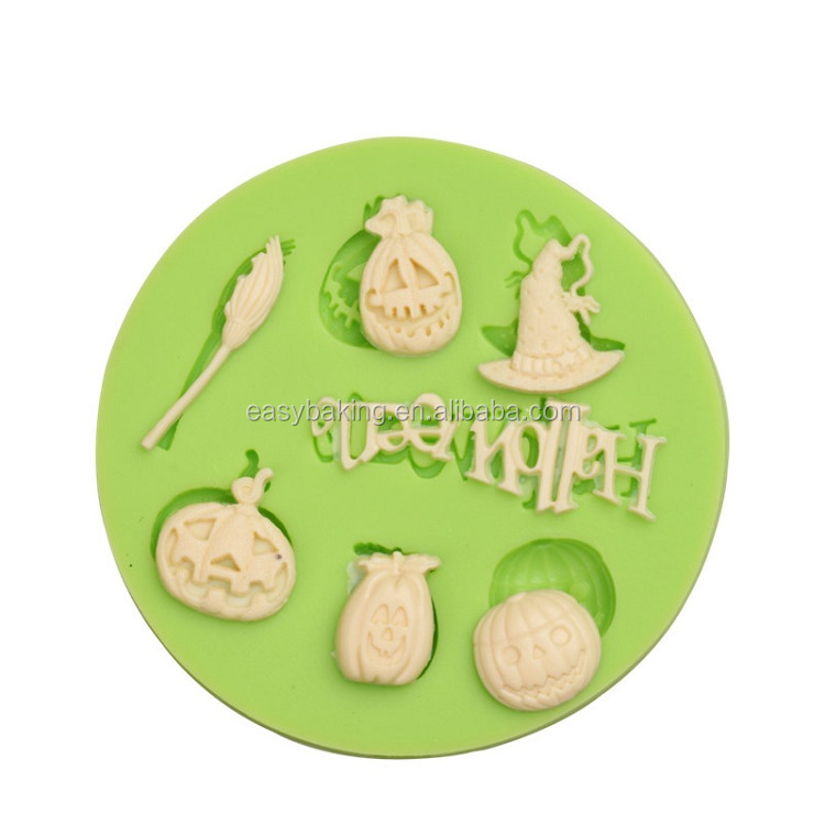 Good quality custom DIY Halloween series silicone fondant cake mold
