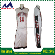 fully sublimated basketball jersey shorts/uniform with customer mock up