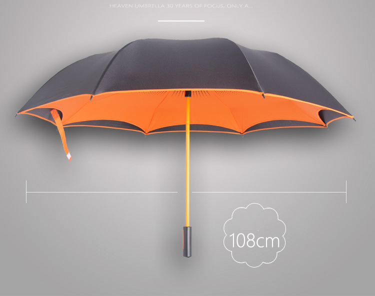 210T fashion custom double umbrellalayer upside-down umbrella inverted golf