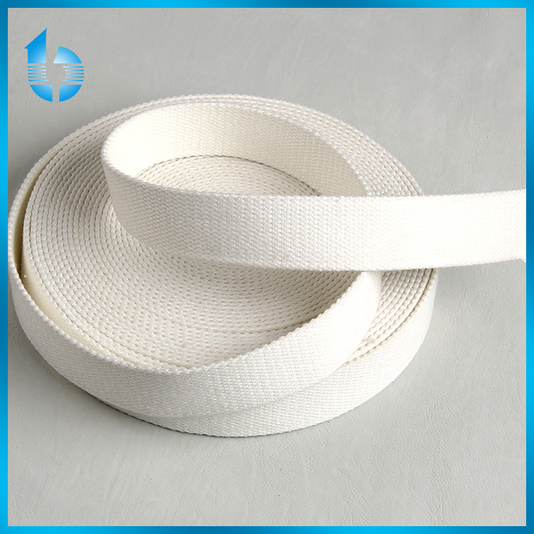 factory custom 25mm white plain polyester webbing for garments