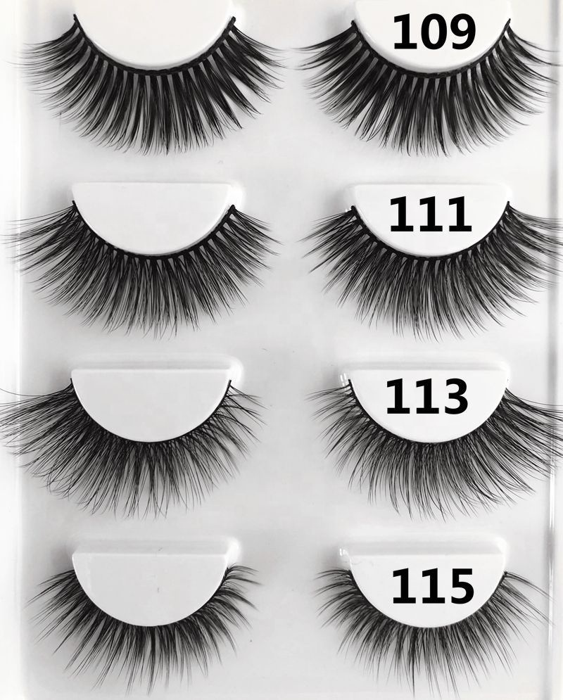 individual eyelashes voluminous false fiber lashes natural falsies