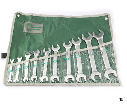 Berrylion CR-V 10Pcs Open-end Spanner Different Types of Spanner set