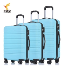 Plastic Big Hardside Hard Case Preside Travel Luggage Set