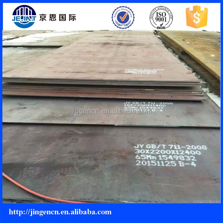 65Mn50Mn Hot Rolled wearing high hardness spring alloy steel sheet