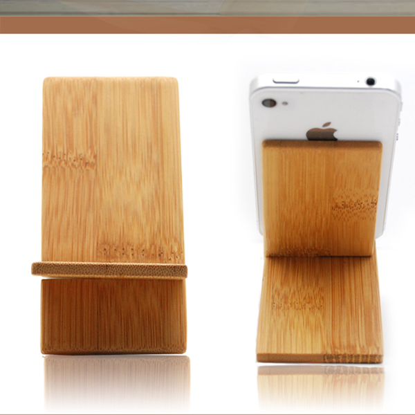 Wooden Phone Stand ~ Bamboo for iphone holder wooden mobile stand cell phone