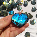 Natural colorful labradorite stone hearts crystal hearts for wedding favor
