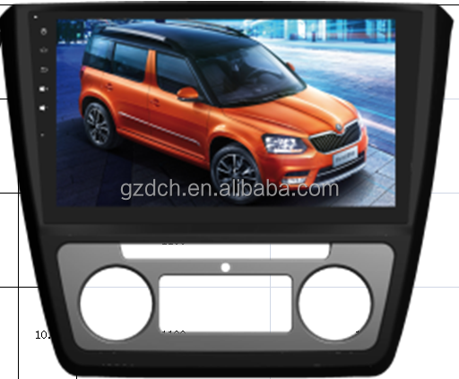 10.1 inch android car gps dvd for SKODA Yeti 2009-- quad core RK3188 1024*600 1G+16G WS-9764