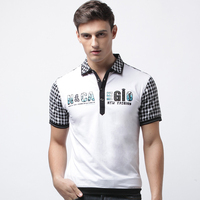 fashion 100 cotton embroidered t shirt men