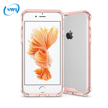 2017 Alibaba Express hot selling PC+TPU Transparent Case Thin for iPhone 7 Crystal Clear Case With Bumper
