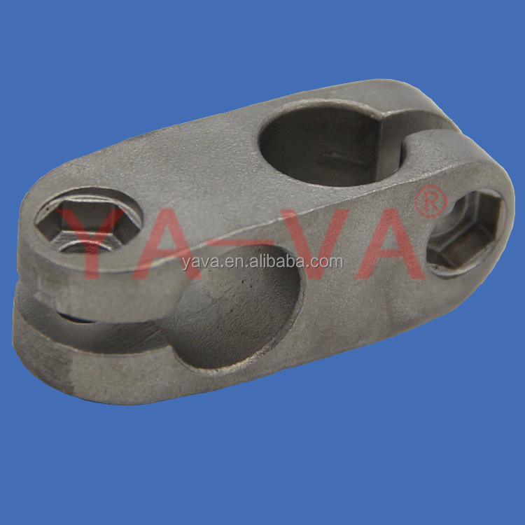 Factory new model stainless steel cross clamp for rod rail conveyor parts