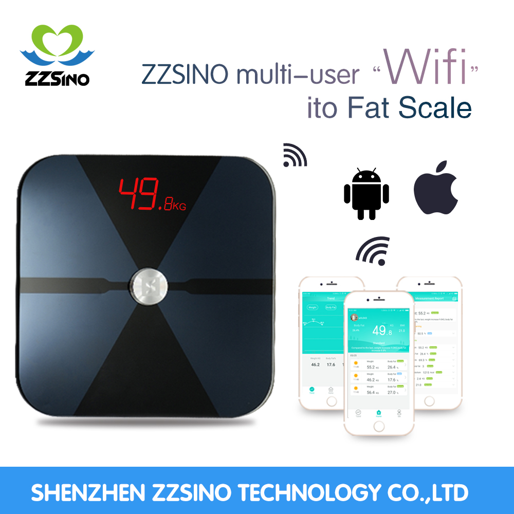 zzsino Smart WIFI body fat scale weigh the weight scales